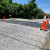 Speed Hump Installed off Calhoun Ave