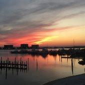 Destin Harbor at Sunset