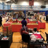 craft show vendors inside the Destin Community Center
