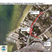 map of Zerbe and Calhoun Pedestrian Pathway