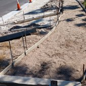 new sidewalk for the Zerbe Calhoun Pedestrian Improvements Phase I