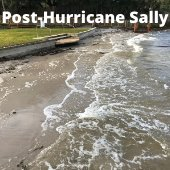 Post-Hurricane Sally Beach Photo of Captain Leonard Destin Park