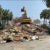 Green house demolished at Shore at Crystal Beach