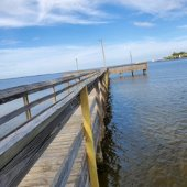 Boards replaced at Mattie Kelly Pier