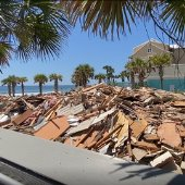demo of structure at Shore at Crystal Beach