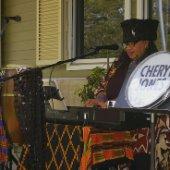 Cheryl Jones playing the piano