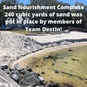 Picture of Beach Nourishment at Captain Leonard Destin Park