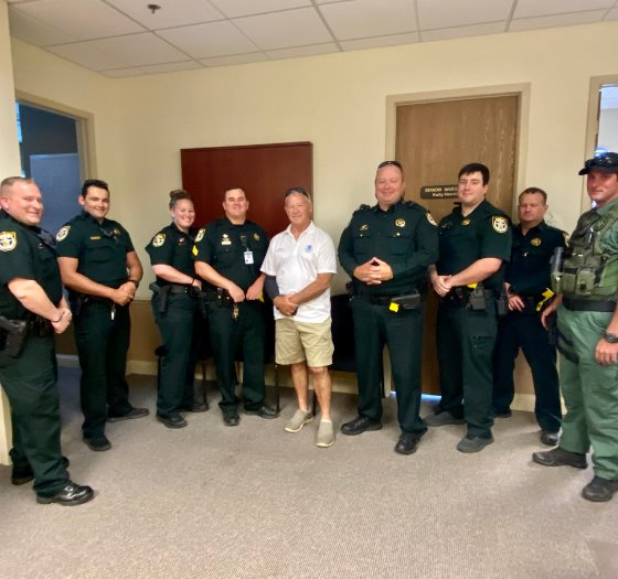 Gary Jarvis with Okaloosa County Deputies