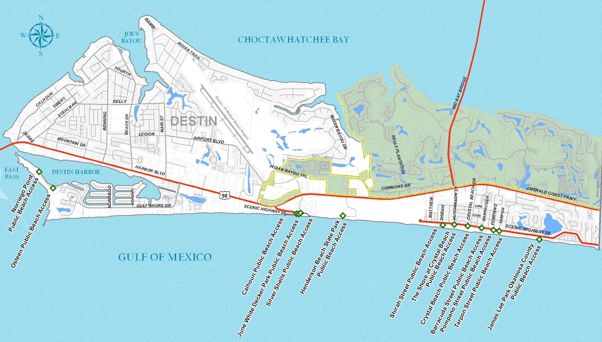 Crystal Beach Destin Florida Map | The best beaches in the world
