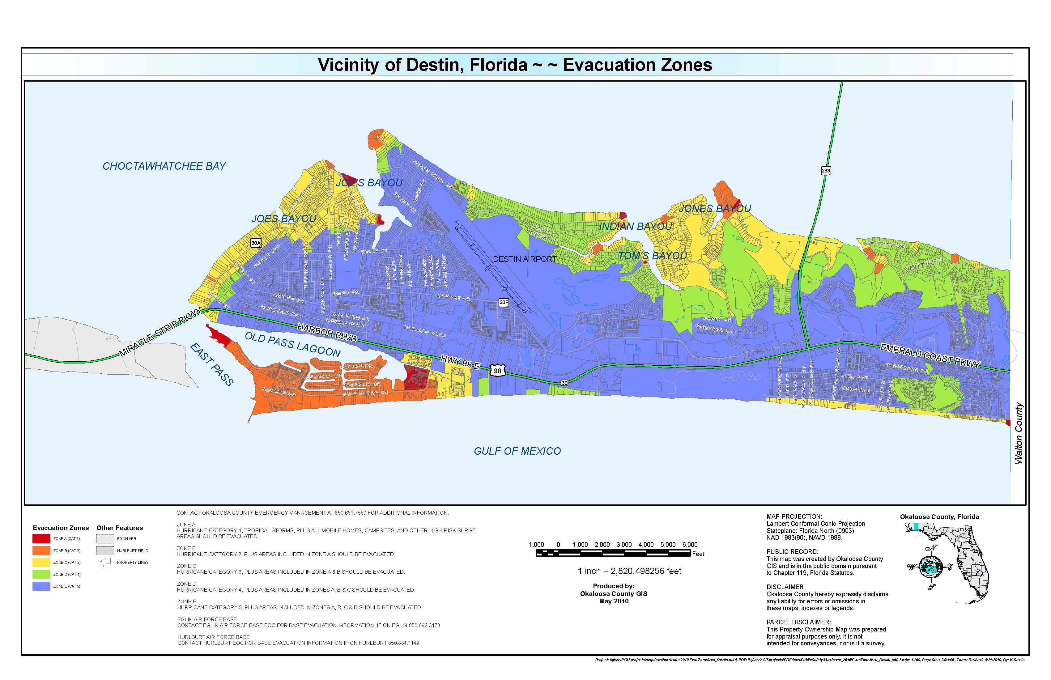 Flood Safety And Warning Destin FL Official Website - Florida map destin beach