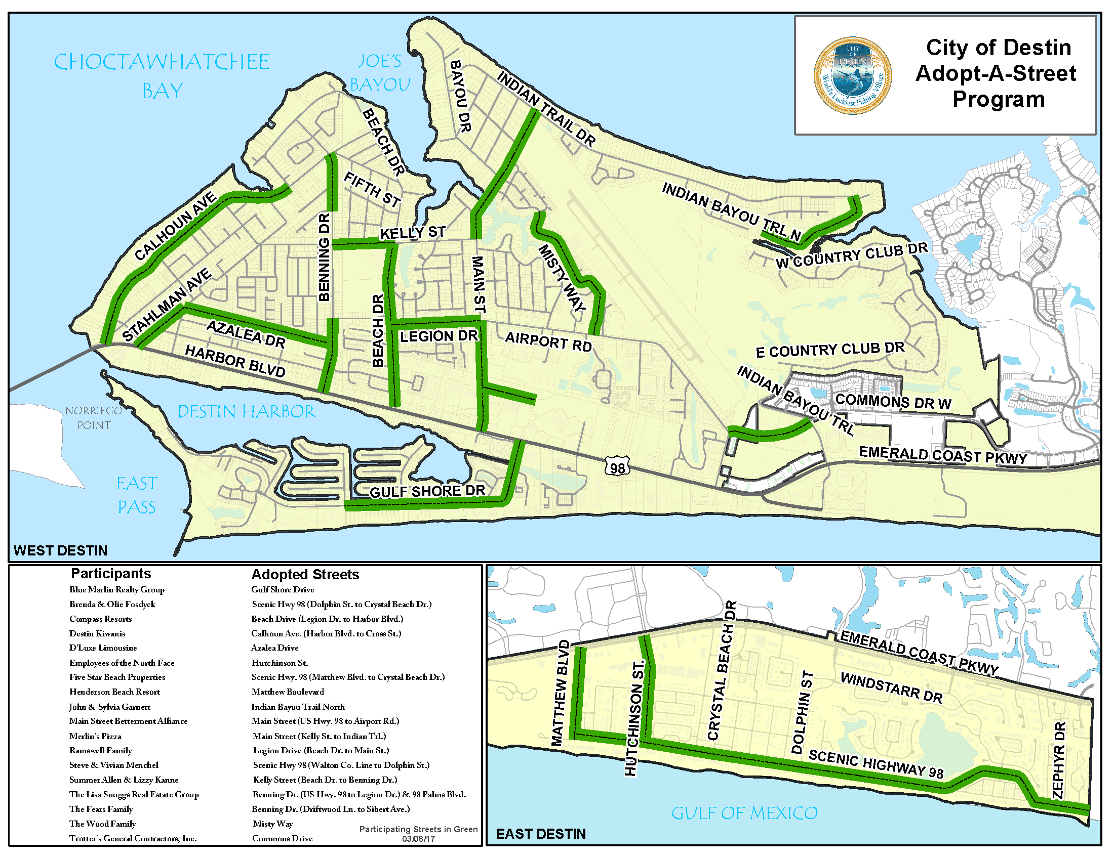 Adopted Streets Map