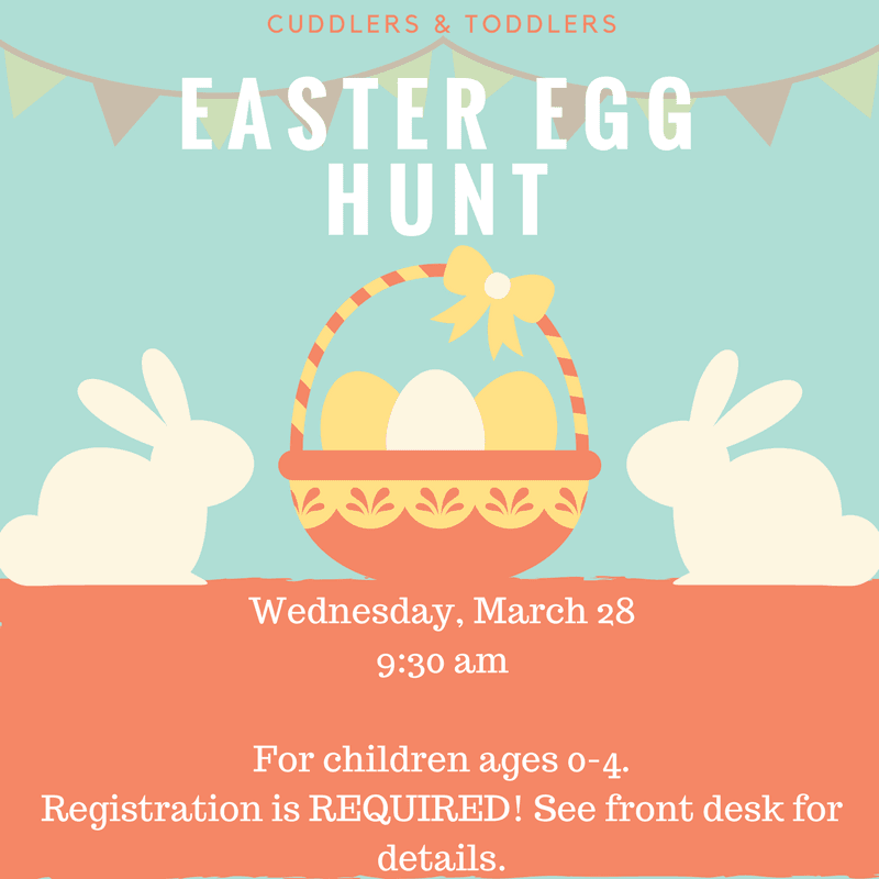 Destin Library indoor easter egg hunt to be held March 28th. Call 8508378572 for details.