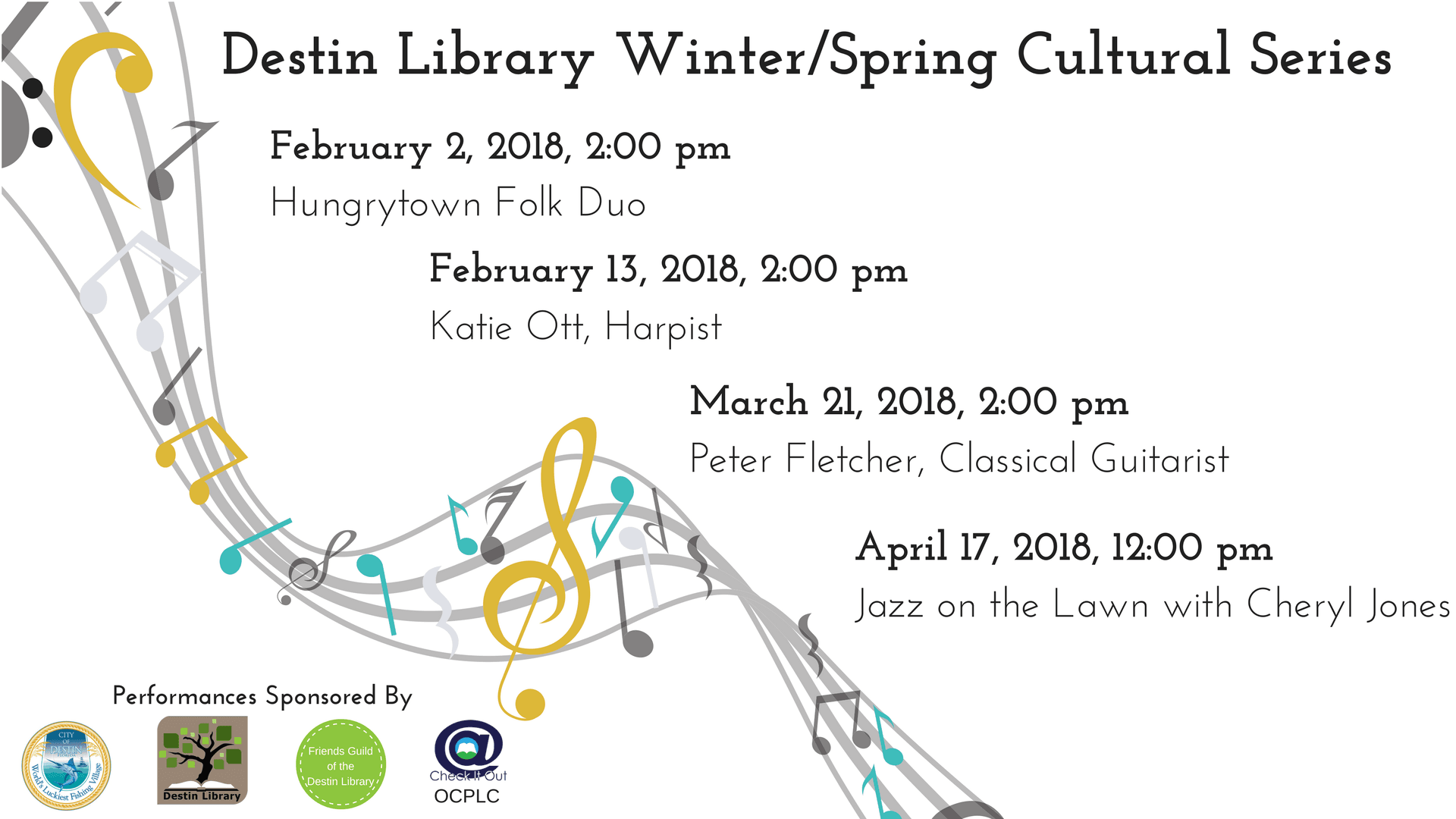 Events in the Library's spring cultural programs series.