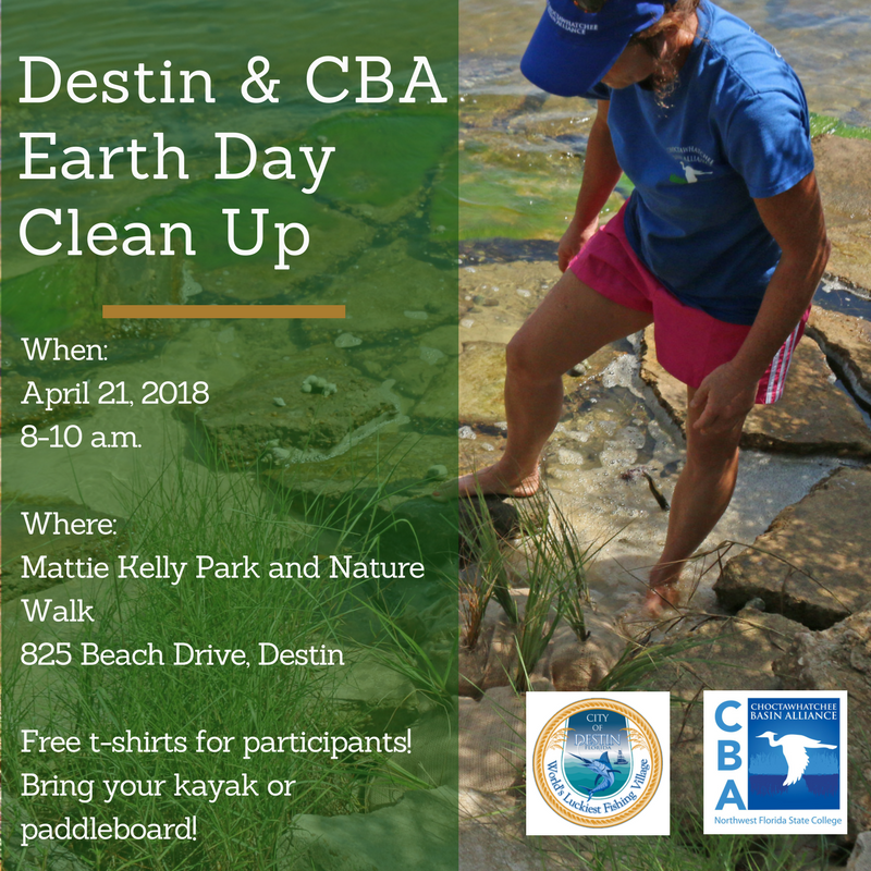 Destin Earth Day Cleanup! flier