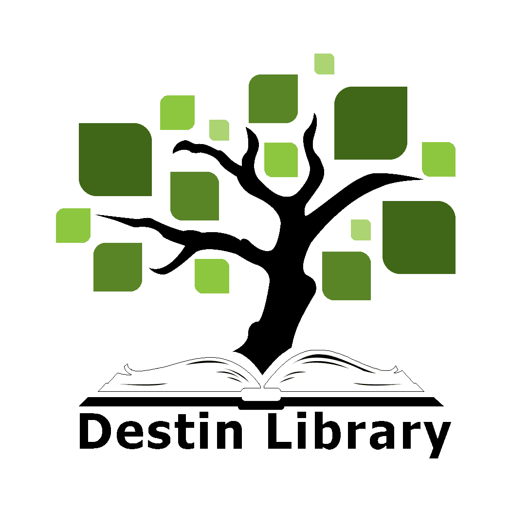 Library logo of a tree growing out of a book