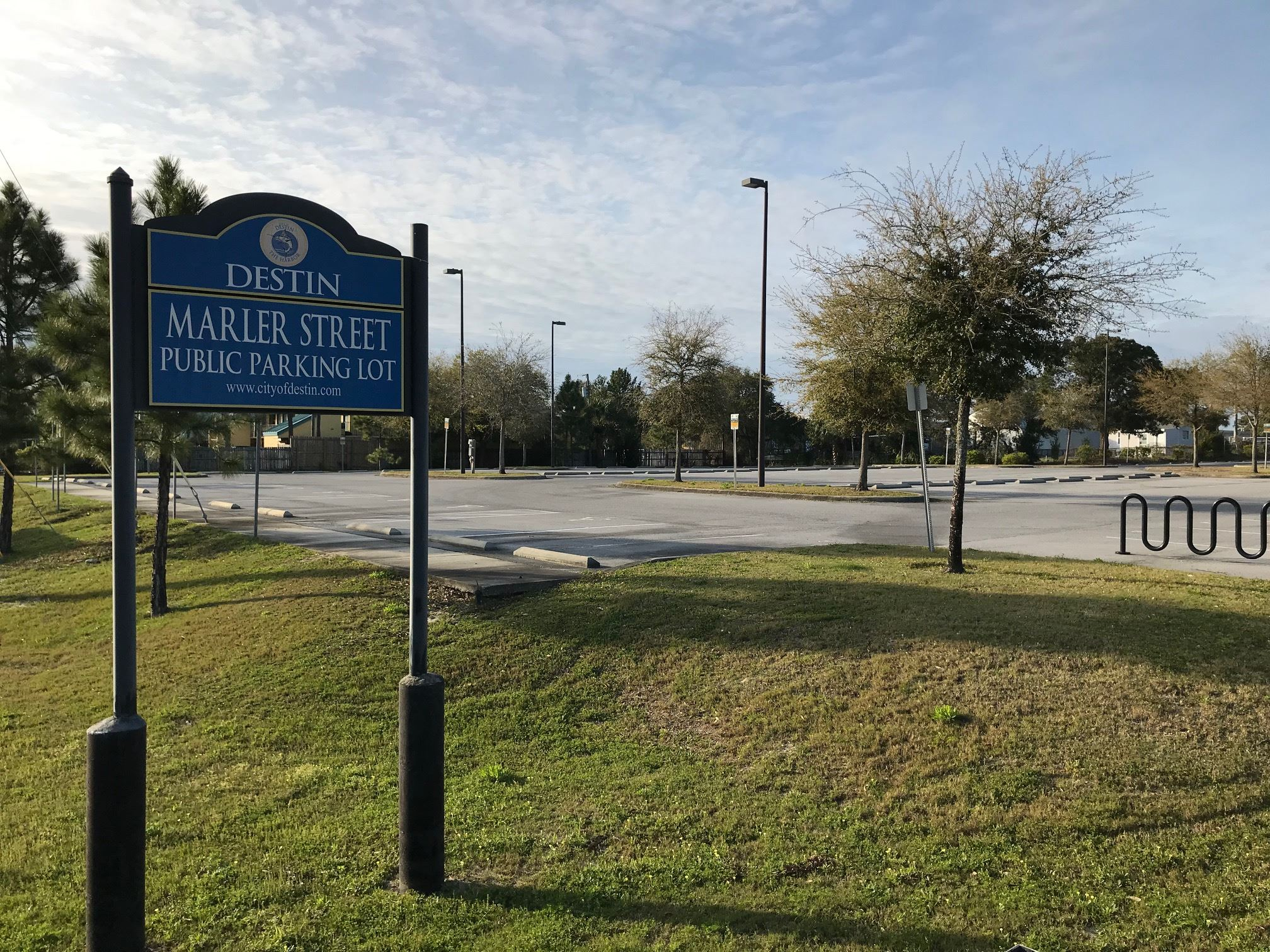 Marler Street Parking sign and parking lot