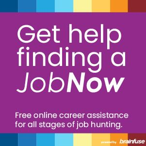 Click here to access free online job coaching with Brainfuse JobNow.