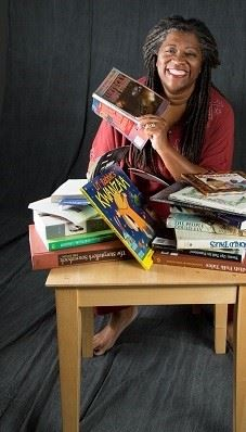 Picture of Donna-Washington sitting at a table with books