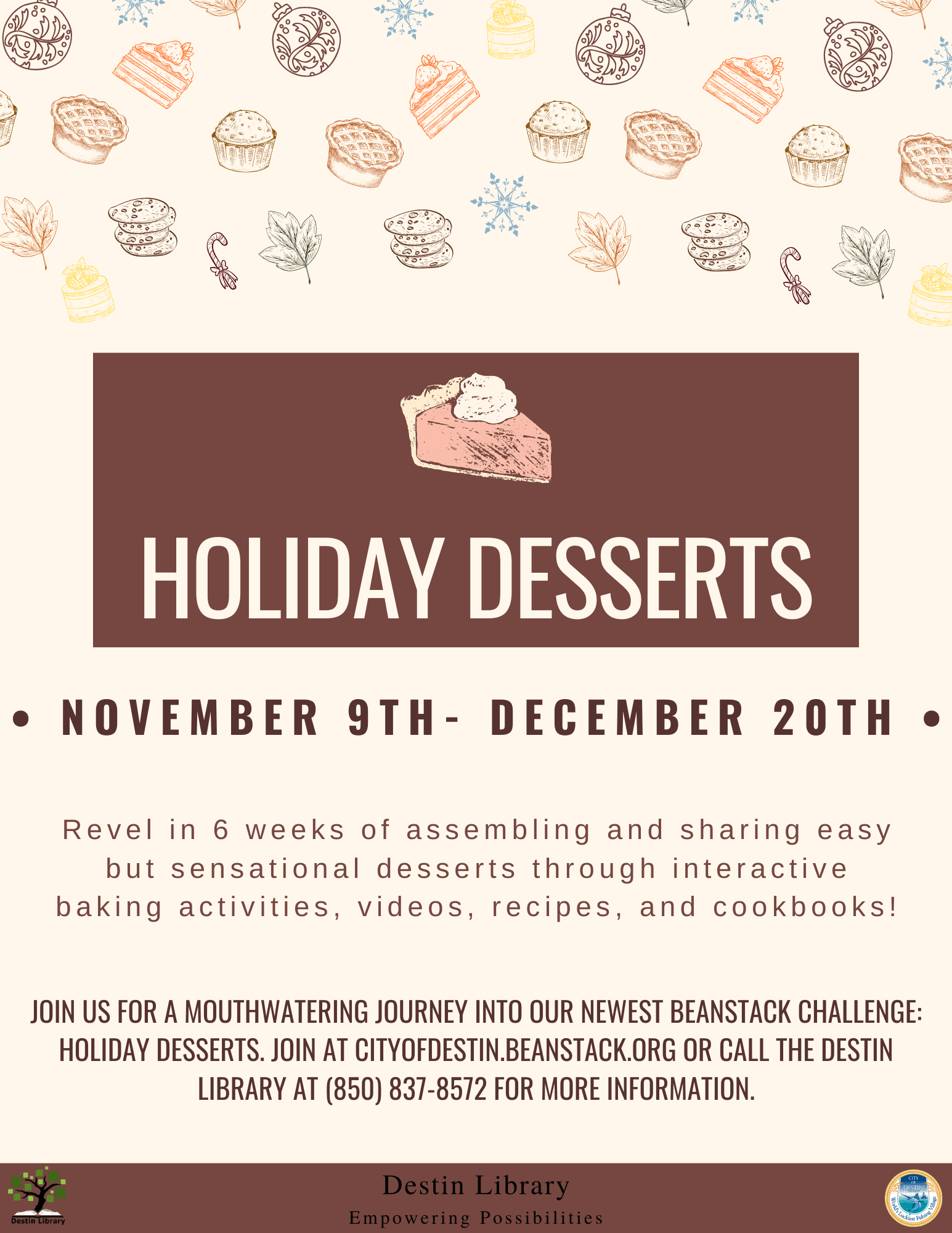 Holiday Desserts Program Information