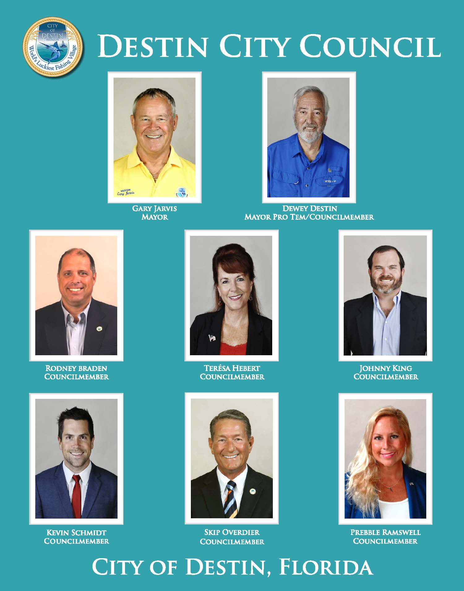 Pictures of council members and mayor