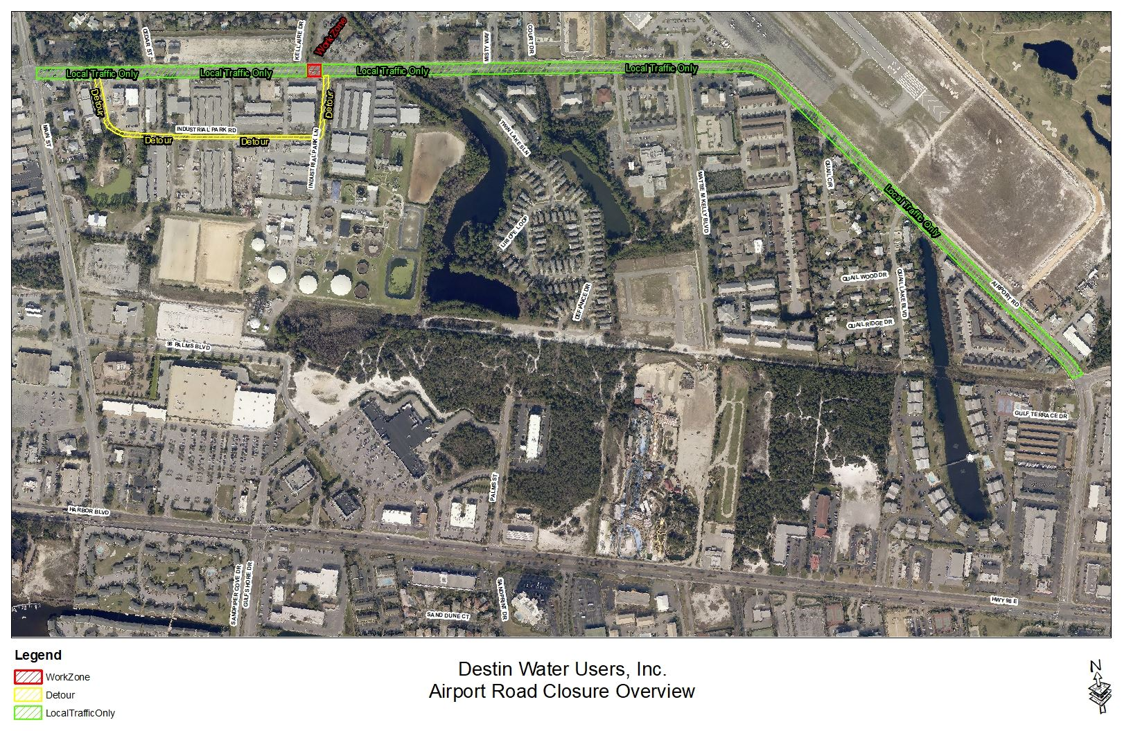 Destin Water Users, Inc. Airport Road Closure Overview